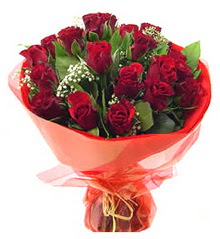 Bilecik çiçekçi anneler günü çiçek yolla  11 adet kimizi gülün ihtisami buket modeli