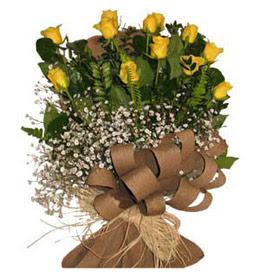 Bilecik çiçekçi çiçek yolla  9 adet sari gül buketi