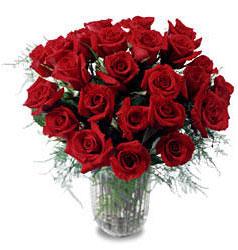 Bilecik çiçekçi çiçek gönderme sitemiz güvenlidir  11 adet kirmizi gül cam yada mika vazo içerisinde