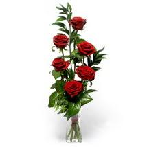 Bilecik çiçekçi çiçek siparişi sitesi  cam yada mika vazo içerisinde 6 adet kirmizi gül