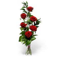 Bilecik çiçekçi uluslararası çiçek gönderme  mika yada cam vazoda 6 adet essiz gül