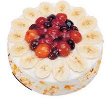 Meyvali 4 ile 6 kisilik yas pasta leziz  Bilecik çiçekçi ucuz çiçek gönder