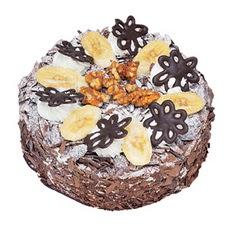 Muzlu çikolatali yas pasta 4 ile 6 kisilik   Bilecik çiçekçi uluslararası çiçek gönderme