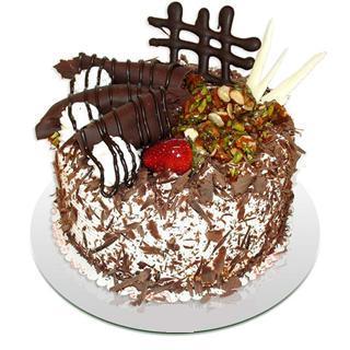 4 ile 6 kisilik çikolatali yas pasta  Bilecik çiçekçi kaliteli taze ve ucuz çiçekler