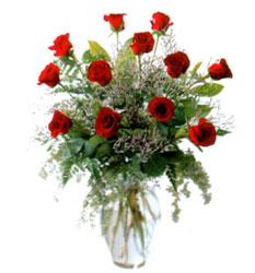 Vazo içerisinde 11 kirmizi gül  Bilecik çiçekçi çiçek siparişi vermek