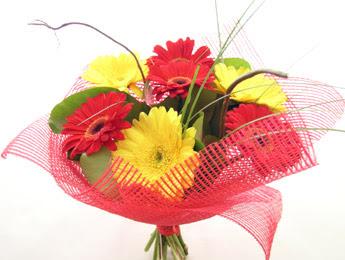 9 adet gerbera çiçeklerinden buket  Bilecik çiçekçi çiçek satışı