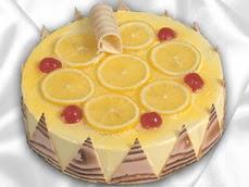 taze pastaci 4 ile 6 kisilik yas pasta limonlu yaspasta  Bilecik çiçekçi online çiçek gönderme sipariş