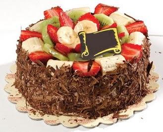 pastaci firmasindan 4 ile 6 kisilik çikolata meyvali yaspasta  Bilecik çiçekçi çiçek siparişi sitesi