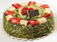 pasta gönder  4 ile 6 kisilik karisik meyvali yas pasta  Bilecik çiçekçi internetten çiçek siparişi