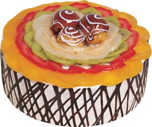 pasta siparisi 4 ile 6 kisilik meyvali yas pasta  Bilecik çiçekçi çiçek satışı