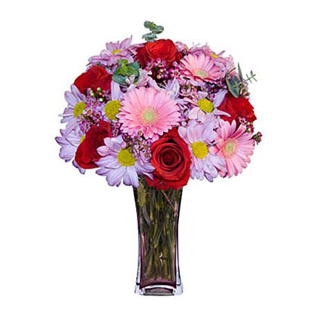 Görsel hediye karisik cam mevsim demeti  Bilecik çiçekçi çiçekçi mağazası