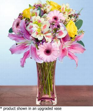 Anneme hediye karisik cam mevsim demeti  Bilecik çiçekçi internetten çiçek siparişi