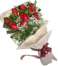 11 adet kirmizi güllerden özel buket  Bilecik çiçekçi internetten çiçek siparişi