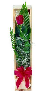 1 adet kutuda kirmizi gül  Bilecik çiçekçi çiçek gönderme sitemiz güvenlidir