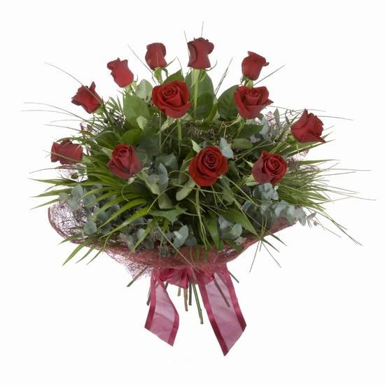 Etkileyici buket 11 adet kirmizi gül buketi  Bilecik çiçekçi internetten çiçek satışı