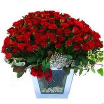 Bilecik çiçekçi çiçekçiler   101 adet kirmizi gül aranjmani