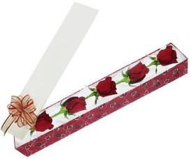 Bilecik çiçekçi internetten çiçek satışı  kutu içerisinde 5 adet kirmizi gül