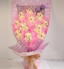 11 adet pelus ayicik buketi  Bilecik çiçekçi çiçek yolla
