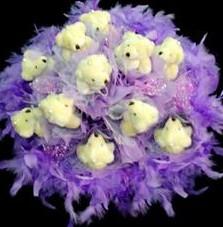 11 adet pelus ayicik buketi  Bilecik çiçekçi çiçek , çiçekçi , çiçekçilik