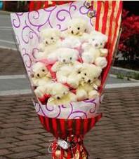 11 adet pelus ayicik buketi  Bilecik çiçekçi ucuz çiçek gönder