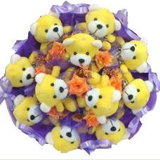 11 adet pelus ayicik buketi  Bilecik çiçekçi çiçek mağazası , çiçekçi adresleri