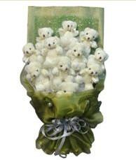 11 adet pelus ayicik buketi  Bilecik çiçekçi online çiçek gönderme sipariş