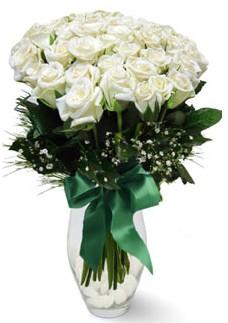 19 adet essiz kalitede beyaz gül  Bilecik çiçekçi çiçekçiler