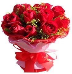 9 adet kirmizi güllerden kipkirmizi buket  Bilecik çiçekçi çiçekçiler