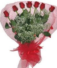 7 adet kipkirmizi gülden görsel buket  Bilecik çiçekçi çiçek mağazası , çiçekçi adresleri
