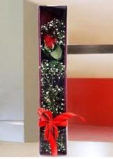 kutu içinde tek kirmizi gül  Bilecik çiçekçi çiçek online çiçek siparişi