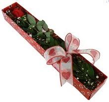 Tek kirmizi gül kutu içerisinde  Bilecik çiçekçi güvenli kaliteli hızlı çiçek