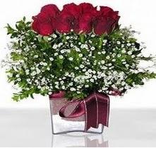 Bilecik çiçekçi internetten çiçek satışı  mika yada cam vazo içerisinde 7 adet gül