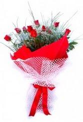 Bilecik çiçekçi İnternetten çiçek siparişi  9 adet kirmizi gül buketi demeti