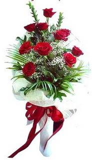 Bilecik çiçekçi ucuz çiçek gönder  10 adet kirmizi gül buketi demeti