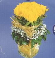 Bilecik çiçekçi anneler günü çiçek yolla  Cam vazoda 9 Sari gül