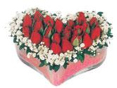 Bilecik çiçekçi çiçekçi telefonları  mika kalpte kirmizi güller 9