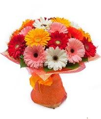 Renkli gerbera buketi  Bilecik çiçekçi anneler günü çiçek yolla