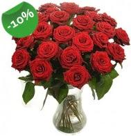 Vazo içerisinde 25 adet kırmızı gül  Bilecik çiçekçi cicek , cicekci