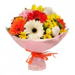 Karışık mevsim buketi Mevsimsel çiçek  Bilecik çiçekçi internetten çiçek siparişi
