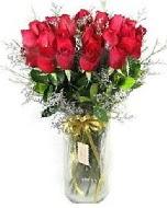 27 adet vazo içerisinde kırmızı gül  Bilecik çiçekçi İnternetten çiçek siparişi
