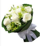 9 adet beyaz gül buketi  Bilecik çiçekçi çiçek siparişi sitesi