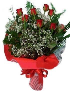 7 kırmızı gül buketi  Bilecik çiçekçi çiçek servisi , çiçekçi adresleri