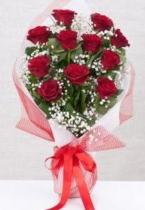 11 kırmızı gülden buket çiçeği  Bilecik çiçekçi 14 şubat sevgililer günü çiçek