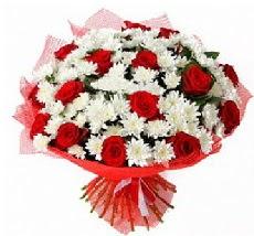 11 adet kırmızı gül ve 1 demet krizantem  Bilecik çiçekçi çiçek mağazası , çiçekçi adresleri