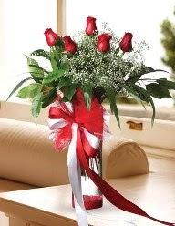 Camda 5 kırmızı gül tanzimi  Bilecik çiçekçi çiçekçi telefonları