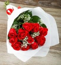 9 kırmızı gülden buket çiçeği  Bilecik çiçekçi çiçek gönderme