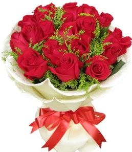19 adet kırmızı gülden buket tanzimi  Bilecik çiçekçi çiçek servisi , çiçekçi adresleri