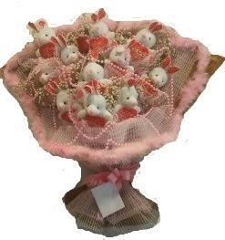 12 adet tavşan buketi  Bilecik çiçekçi çiçek mağazası , çiçekçi adresleri