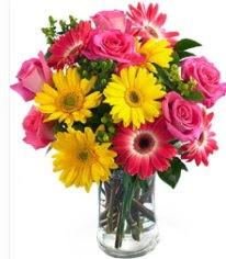 Vazoda Karışık mevsim çiçeği  Bilecik çiçekçi çiçekçi mağazası