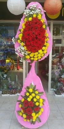 Çift katlı düğün nikah açılış çiçek modeli  Bilecik çiçekçi çiçekçiler